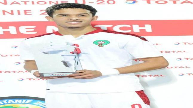الإتحاد الإفريقي لكرة القدم يختار المغربي أيوب مولوع أحسن لاعب في لقاء تنزانيا