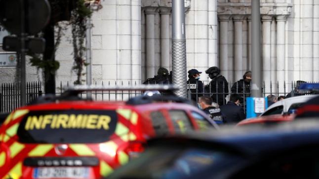 ارتفاع عدد الضحايا إلى ثلاثة قتلى بحادثة طعن في نيس الفرنسية
